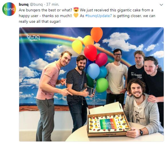 Toptaart.nl voor Bunq